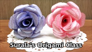 getlinkyoutube.com-Origami - Beautiful Rose / 종이접기 - 아름다운 장미 (Paper Crafts)