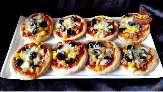 Mini pizza - بيتزات صغيرة بالتونة رائعة جدا ولذيذة - Mini-Pizza au Thon