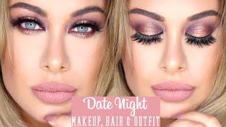 getlinkyoutube.com-Affordable Date Night Makeup, hair & Outfit - Carli Bybel palette & BooHoo