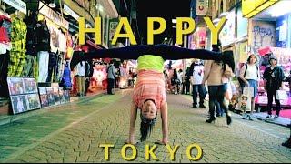 "getlinkyoutube.com-""Happy"" Tokyo- Pharrell Williams:  Capoeira, Hip Hop, Street dance"