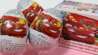getlinkyoutube.com-Cars 2 Surprise Eggs Toy Disney Pixar Zaini Chocolate カーズ2 チョコエッグ