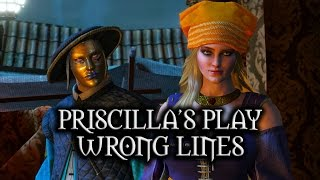getlinkyoutube.com-The Witcher 3: Wild Hunt - Priscilla's Play - Wrong (but funny) lines