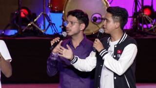 SkinnyIndonesian24 and Being Indian's Sahil Khattar @ YouTube FanFest India 2017
