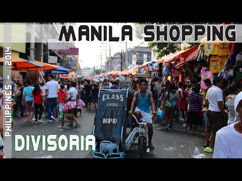 Philippines bargain shopping in Divisoria Manila