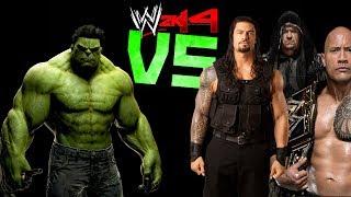 getlinkyoutube.com-WWE 2K14: HULK VS Roman Reigns, The Rock & The Undertaker [FR//HD]