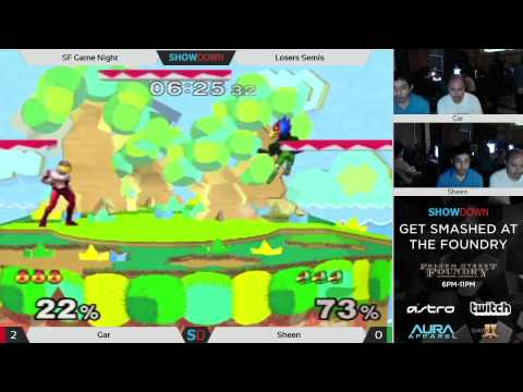 Get Smashed at the Foundry #3 Losers Semis - Gar(Sheik) vs Sheen(Falco)