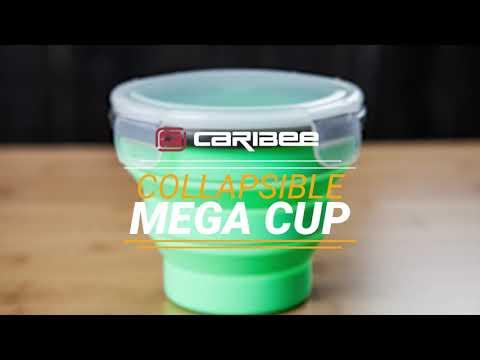 Caribee Collapsible Mega Cup 600mL - Green