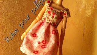 getlinkyoutube.com-Tutoriel: Robe col carré pour vos dolls.