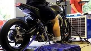 getlinkyoutube.com-Yamaha MT09 turbo built by Extreme Creations on dyno