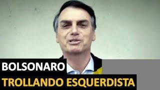 BOLSONARO MITA AO RESPONDER PERGUNTA IDIOTA DE ESQUERDISTA