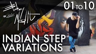 Breakdance Toprock tutorial • 10/100 Indian Step Variations • Bboy MeditRock
