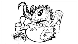 Let's Draw a Dragon - character good for graffiti stickers