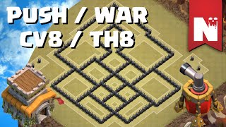 getlinkyoutube.com-Clash of Clans - Melhor Layout PUSH / WAR - CV8 / TH8