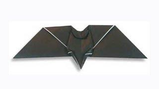 Cách gấp, xếp con dơi Halloween bằng giấy origami - Video hướng dẫn xếp hình