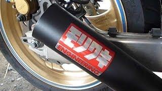 getlinkyoutube.com-CB400SF  モリワキ ショートマフラー 後方から撮影 マフラー排気音 V-TEC SPEC3