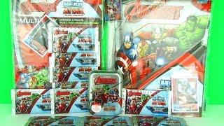 getlinkyoutube.com-Marvel Avengers Age Of Ultron 2015 Trading Cards Packs Opening, Binder, Multipack & Tin Ltd Ed