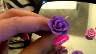 getlinkyoutube.com-How To: Rose Stud Earrings (Polymer Clay Tutorial)