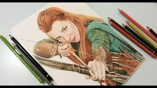 getlinkyoutube.com-Tauriel (The Hobbit) Speed drawing