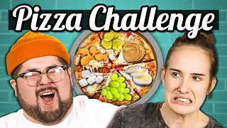 PIZZA CHALLENGE!!! (Gross Toppings) | College Kids Vs. Food width=