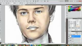 getlinkyoutube.com-Photoshop CS5 - Color Drawing - Tutorial