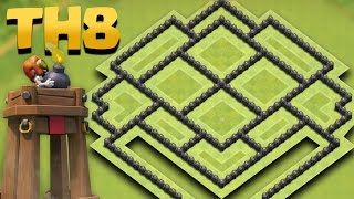 getlinkyoutube.com-Town Hall 8 TROPHY PUSHING Base Update *BOMB TOWER*  (TH8 Anti 2 STAR) + TH9 Attack Replays