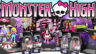 getlinkyoutube.com-Monster High Mega Bloks Collection! Monster Moviemobile, Graveyard Garden Party and More!