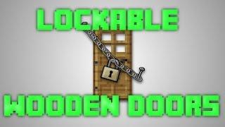 getlinkyoutube.com-Minecraft Locking wooden doors [1.8]