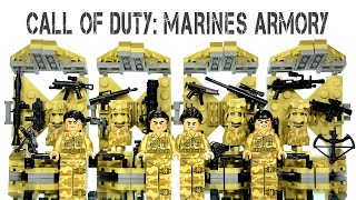 getlinkyoutube.com-Brick Warfare Call of Duty Special Forces Marines Armory Unofficial Lego Minifigures & Set