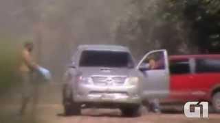 Vídeo flagra pouso de avião com 424 quilos de droga no Pantanal de MT