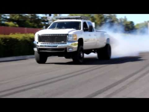 "2008 3500HD Dually ""Nor-Cal Nick's"" Burn Out!"