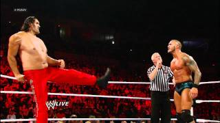 getlinkyoutube.com-Raw: Randy Orton & The Great Khali vs. Wade Barrett & Cody