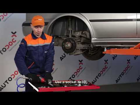 How to replace a Rear wheel bearing on SKODA OCTAVIA 1U TUTORIAL   AUTODOC