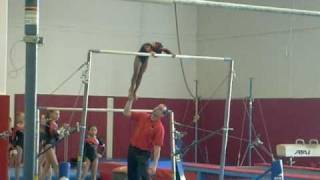 getlinkyoutube.com-great gymnastics bar coaching @ MEGA gymnastics
