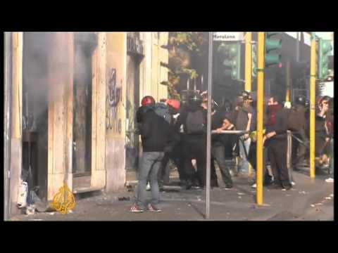 Rome 'Occupy' protest turns violent