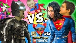 getlinkyoutube.com-BATMAN vs. SUPERMAN! Lets Build & Play LEGO Dimensions #14: w/ Superbaby, Lord Business & Joker Bot