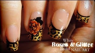 getlinkyoutube.com-Leopard & Roses nail art