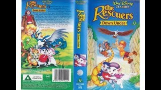 The Rescuers Down Under UK VHS Opening And Closing (1992)