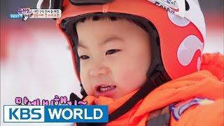 getlinkyoutube.com-The Return of Superman - Triplets' First skiing