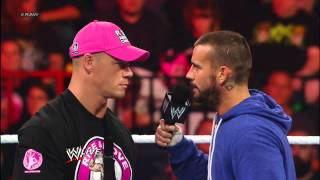 After John Cena blasts CM Punk with a pipe, CM Punk kicks Mick Foley in the stomach: Raw, Sept. 24,