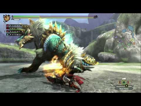 Monster Hunter 3 Ultimate - Zinogre Gameplay (Wii U)