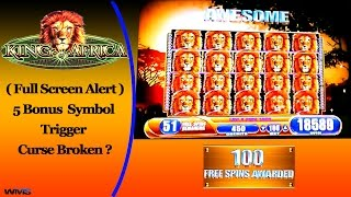 getlinkyoutube.com-WMS - King of Africa : Epic Bonus Win 100 spins Plus Full Screen on a $1.00 bet