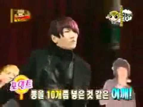 SHINee KEY imitates UKISS DONGHO's dance (MAN MAN HA NI)