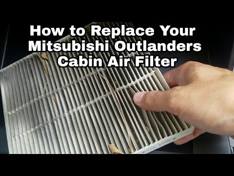 2018 Mitsubishi Outlander how to replace the cabin air filter