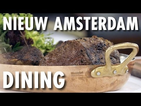 Nieuw Amsterdam Review & Tour: Dining ~ Holland America Line ~ Cruise Ship Review & Tour