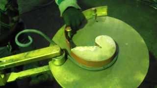 """getlinkyoutube.com-#1 Самодельный гибочный ручной станок """"ковка холодная"""" \ с forging\"""