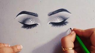رسم عيون مغمضة | خطوة بخطوة