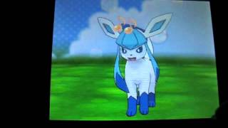 getlinkyoutube.com-Shiny Eevee evolves into Leafeon, Glaceon and Sylveon!!! in Pokemon X
