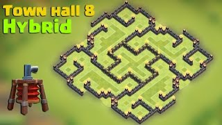 getlinkyoutube.com-Clash of clans - Town hall 8 (TH8) Hybrid base 2015 [The slit] with Air sweeper