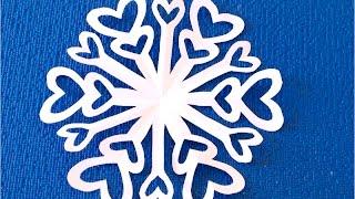 getlinkyoutube.com-Ажурная снежинка из бумаги Paper Snowflake