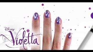getlinkyoutube.com-Disney's Nail Art - Violettas musikalische Fingernägel - DISNEY CHANNEL